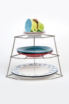 The Plate Stacker will keep your crockery organised. Available online from Neat Freak. Stainless Steel Plate, Plate Racks, Kitchen Cupboards, Cleaning, Plates, Tableware, Organization, Kitchen Cabinets, Licence Plates