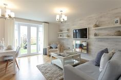 Pennington Wharf - this new development is presented in 5 phases and offers a superb range of new homes comprising of 3 & 4 bedrooms and the final 2 bedroom apartments in Leigh. Pennington Wharf Phase IV & V homes now available! Narrow Living Room, Home Living Room, Living Room Decor, Dining Room, Bellway Homes, New Homes, Wimpey Homes, Buying A New Home, Luxurious Bedrooms