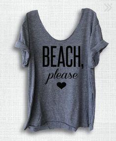 BEACH please Off-Shoulder Swanky Tee Raw Neckline One by everfitte