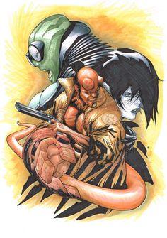 Hellboy, Abe Sapien, and Liz Sherman by Rafa Sandoval and Jordi Tarragona