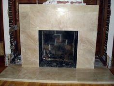 tile fireplaces | French Limestone Tile Fireplace, San Francisco, San Francisco County ...