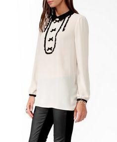 Ruffled Bib Tunic