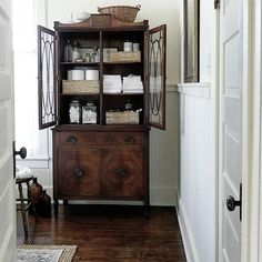 Decorating with antique furniture cabinets commodes tables dressers secretary desks in the bathroom ideas tips luxury interior design powder room Repurposed Furniture, Home Decor Furniture, Bathroom Furniture, Living Room Furniture, Furniture Design, Antique Furniture, Bathroom Ideas, Rustic Furniture, Furniture Ideas