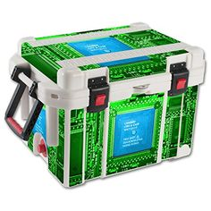 MightySkins Protective Vinyl Skin Decal for Pelican 35 qt Cooler wrap cover sticker skins Circuit Board >>> More info could be found at the image url. (This is an affiliate link) #CoolersandAccessories