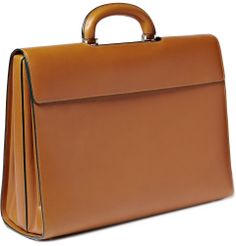 male leather bags | Valextra Men's Leather Diplomatic Bag | Men's bags