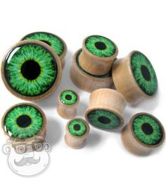 Eyeball Inlay Wood Gauges Plugs