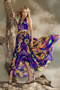 Parides Purple Maxi Dress - Luxury Collection
