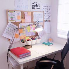 Home Room Design, Home Office Design, Home Office Decor, Study Room Decor, Room Ideas Bedroom, Bedroom Decor, Study Rooms, Study Desk Organization, Study Corner