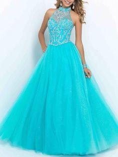 Light blue silk dress perfect for prom