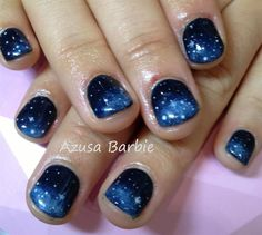 galaxy nails by azusa from Nail Art Gallery