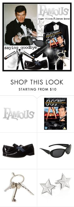 """""""Roger Moore says... goodbye, no one as good as you!"""" by anniecy ❤ liked on Polyvore featuring PBteen, Brioni, Ultimate, James Bond 007, Calvin Klein, Body Glove, Givenchy, men's fashion, menswear and FAmous"""