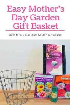 Does your mom love to garden? An easy DIY Mothers Day gift is a garden gift basket. Head to the Dollar Store and find everything you need. Easy Diy Mother's Day Gifts, Diy Mothers Day Gifts, Diy Crafts For Gifts, Mother's Day Diy, Homemade Crafts, Tree Cookies, Garden Gifts, Easy Garden, Dollar Tree