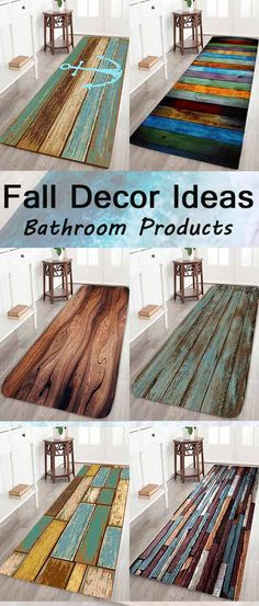 fall decor ideas:Bath Rugs & Toilet Covers for bathroom- woodwork -