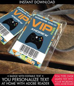 Video game invitation game truck party invitations video game video game badges video game id badges video by simplyeverydayme stopboris Images