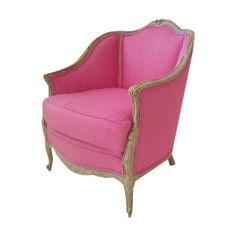 Pink French Armchair, lonny magazine, hot pink upholstered armchair – LANSKY STUDIO