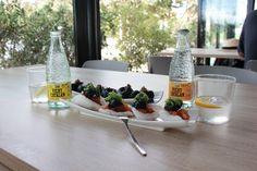 Unas tapas en el restaurante Xiroi de Ca La Nuri (Barcelona) con la pareja perfecta, Vichy Catalan Orange & Lemon ¿Te hace este momento #vichycatalanfood?