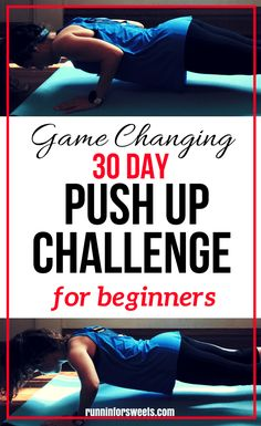 This 30 day push up challenge for beginners incorporates all the push up variations you need to build muscle and get strong! 30 Day Pushup Challenge, Body Challenge, Workout Challenge, Workout Plans, Workout Ideas, Push Up Beginner, 30 Day Push Up, Easy Workouts For Beginners, Bodybuilding For Beginners