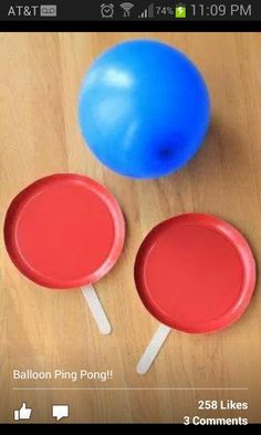 Ping pong with ballon