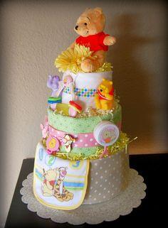 Disney Winnie the Pooh Diaper Cake