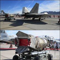 The Pratt & Whitney turbofan engine features an afterburner with two-dimensional thrust vectoring nozzles (Aviation Nation F14 Tomcat, Military Helicopter, Military Aircraft, Thrust Vectoring, Stealth Technology, Turbofan Engine, F22 Raptor, Scale Models, Air Force