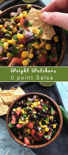 Weight Watchers Zero Point Salsa - Recipe Diaries #summerrecipes #summer #salsa #zeropoints