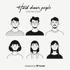 Hand drawn colorless people avatar - Icon People - Ideas of Icon People - Hand drawn colorless people avatar by Jonathan Larenas Art And Illustration, People Illustration, Portrait Illustration, Avatar, Vector Character, Simple Character, Character Concept, Art Graphique, Animation