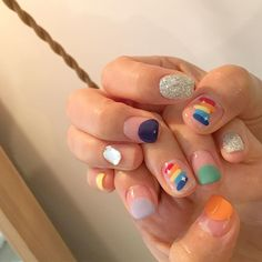 - Best ideas for decoration and makeup - Chic Nail Art, Chic Nails, Swag Nails, Hair And Nails, My Nails, Korean Nail Art, Natural Nail Designs, Bright Nails, Minimalist Nails