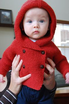 "Baby ""Duffle Coat"" - pattern by Debbie Bliss - she makes the BEST baby patterns!"