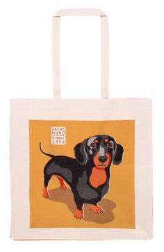 "Dachshund ""RALF"" Canvas Bag"