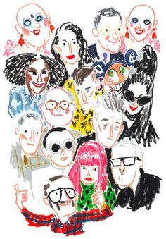 Nice that: Illustration: High fashion through the eyes of Damien Cuypers - . - Nice that: Illustration: High fashion through the eyes of Damien Cuypers – - Art And Illustration, Illustrations And Posters, Character Illustration, People Illustration, Art Mignon, Arte Sketchbook, Fashion Sketchbook, Fashion Sketches, Poster Layout