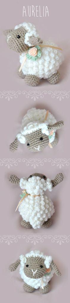 Amigurumi Lamb - FREE Crochet Pattern / Tutorial needs translating Crochet Amigurumi, Knit Or Crochet, Amigurumi Patterns, Crochet Crafts, Crochet Dolls, Yarn Crafts, Knitting Patterns, Crochet Patterns, Sewing Patterns