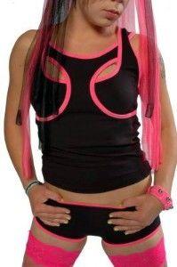 Wrestler vest black/ pink