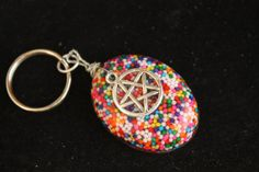 Sweet Secrets Pentagram Candy Sprinkle Resin Key by tranquilityy, $7.25