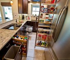 "pull out kitchen cabinets | Small Kitchen ""Remodels"" That Will Make a Big Difference - Ready, Set ..."