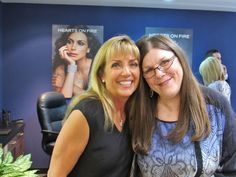 Coleen and Joanie, enjoying Girl Time at the Hearts on Fire Boutique Launch Event.  Creations Fine Jewelers 707-252-8131 www.creationsfinejewelers.com