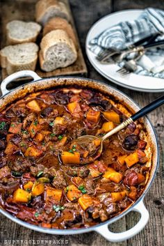 One–pot Vietnamese Beef and Squash Stew - an intensely aromatic dish that's comfort food perfection | Supergolden Bakes