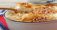 Receita de arroz doce cremoso com MUITO caramelo