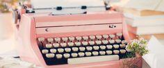 Vintage type writer twitter header