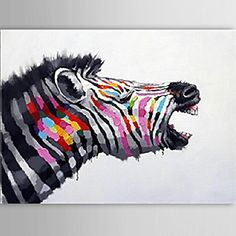 Hand-Painted Animal One Panel Canvas Oil Painting For Home Decoration 2657788 2017 – $65.59