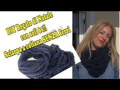 DIY Regalo di natale con soli 6€, sciarpa collana SENZA ferri #hobby-han...