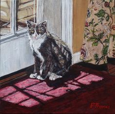 """""""Waiting to Exit"""" painting by Patricia Thomas"""