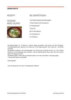 Rezept Vegane Miso-Suppe