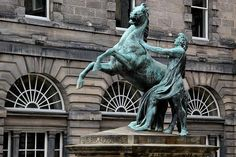 Alexander & Bucephalus - located in front of Edinburgh's City Chambers. Modelled 1832, cast in bronze 1883, presented to the city 1884
