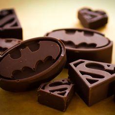Batman & Superman Logo Chocolate & Ice Molds