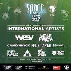 Space Ibiza 25th Anniversary Tour to South Africa 2014