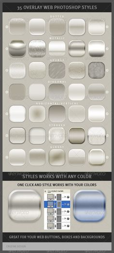 35 Overlay Web Photoshop Styles - http://graphicriver.net/item/35-overlay-web-photoshop-styles/1295699?ref=cruzine