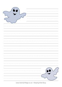 Halloween writing paper - ghosts