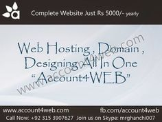 Account4WEB || Web Hosting in Pakistan.: Fast Affordable Web Hosting Packages || Account4WE...
