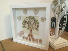 family tree scrabble frame 8 names by MagicWonderCreations on Etsy