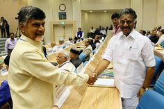CHENNAI SOFTWARE EXPORTS BOOM File photo of Andhra Pradesh Chief Minister Chandrababu Naidu (l) shaking hands with erstwhile Tamil Nadu Chief Minister O. Panneerselvam during the Joint Conference of Chief Ministers and Chief Justices of High Courts in New Delhi on April 5, 2015. (AFP | Getty Images)    Software exports by the Information Technology and http://siliconeer.com/current/chennai-software-exports-boom/